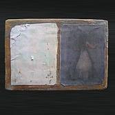Splitting image 2 | gemengde techniek | acryl , papier en lood op hout