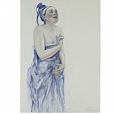 Blauwe bruid  | olieverf op linnen | 140 x 110 cm.