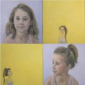 Jasmine | olieverf op doek | 4x50x50 cm.