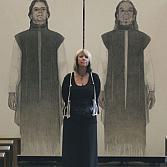 Wachters | kunstproject Oldeberkoop |  olieverf op linnen | 4x200x110cm.