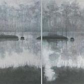 Mist I-II | olieverf op doek | 2 x  90 x 90 cm |