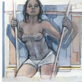 Op stelten 4 | olieverf op linnen | 100 x 110 cm.