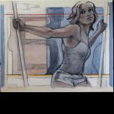 Op stelten 7 | olieverf op linnen | 100 x 110 cm.