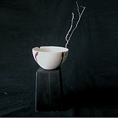 Kom 'Roots 4'   porselein, engobe   h.7, d. 10 cm