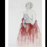 Rode Bruid | olieverf op linnen | 140 x 100 cm.