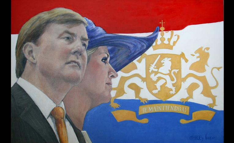 portret Koning Willem Alexander en Koningin Maxima